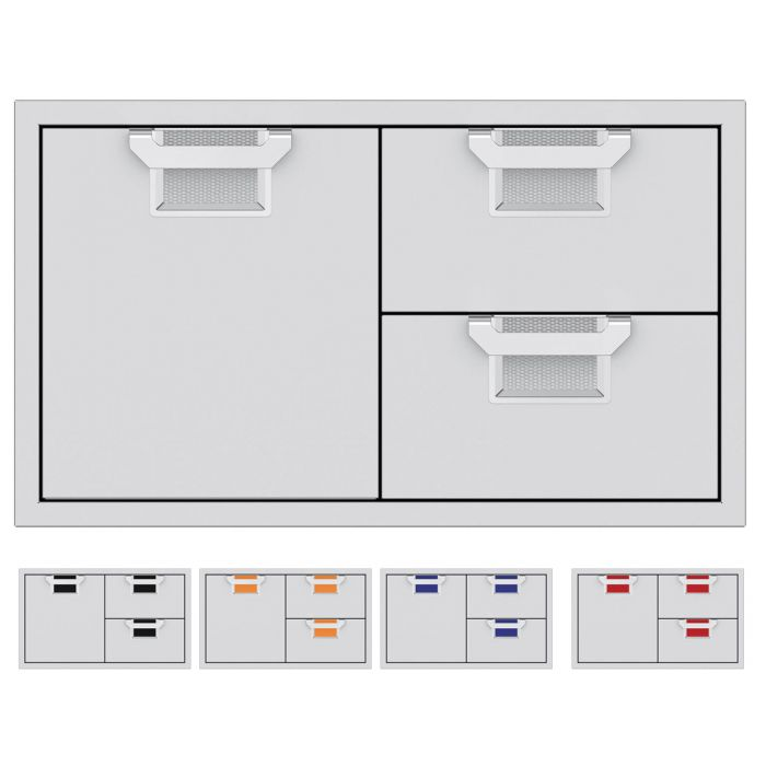 Aspire by Hestan AESDR36 Double Drawer and Storage Door Combo, 36-Inches