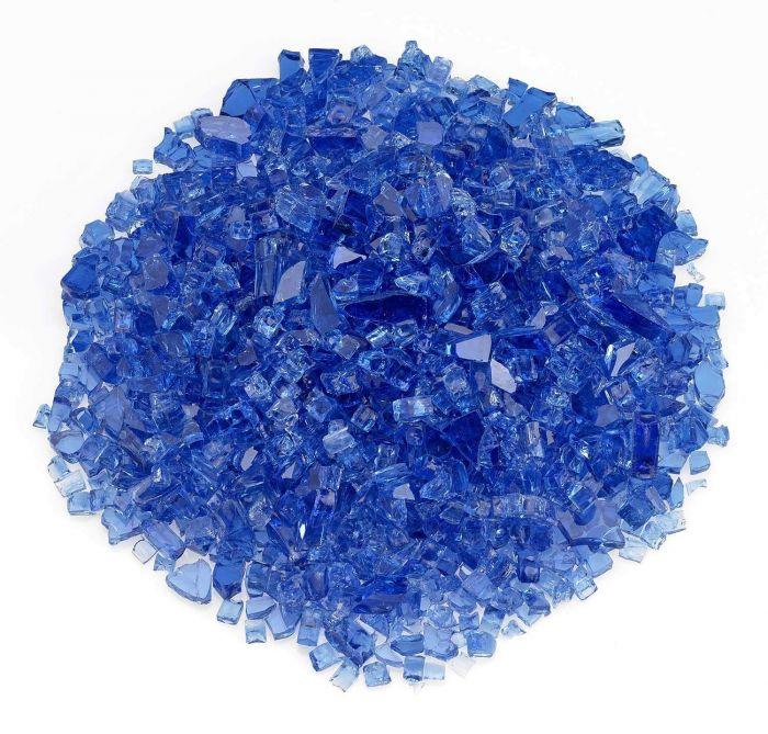 American Fireglass 10-Pound Classic Fire Glass, 1/4 Inch, Cobalt Blue