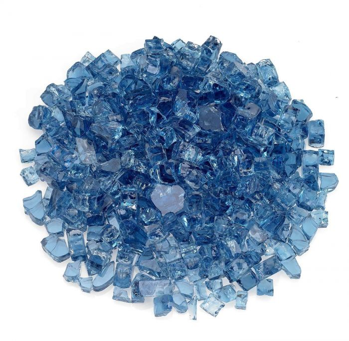 American Fireglass 10-Pound Classic Fire Glass, 1/2 Inch, Pacific Blue