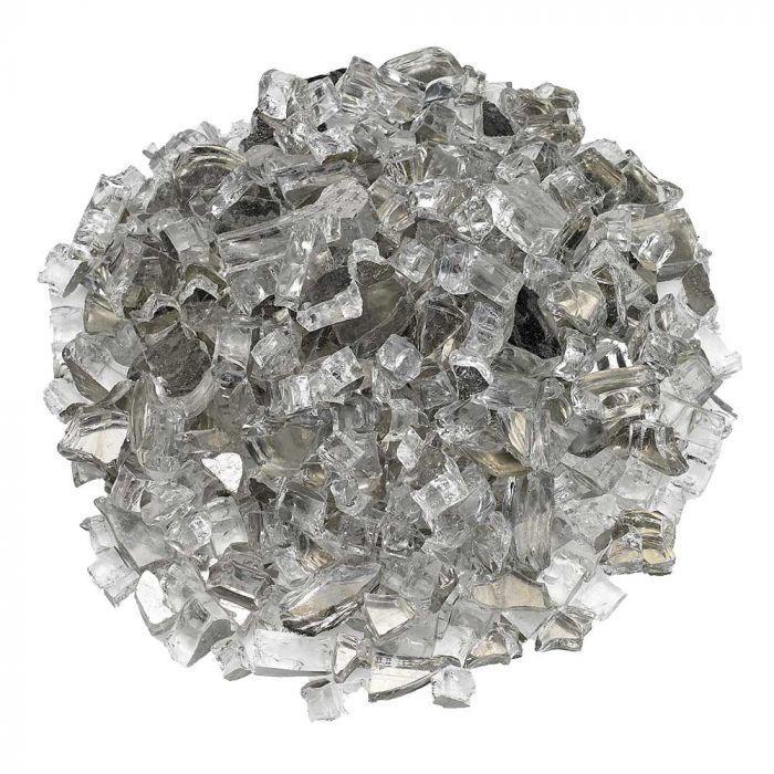 American Fireglass 10-Pound Premium Fire Glass, 1/2 Inch, Starfire Reflective