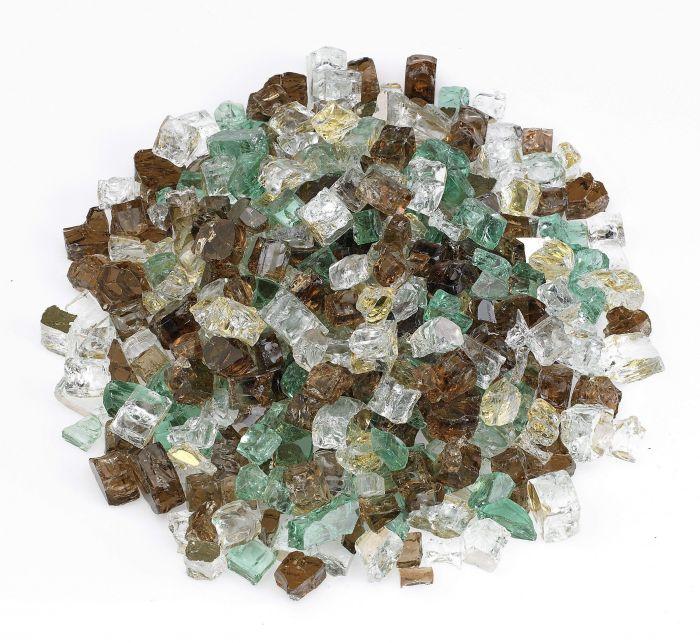 American Fireglass 10-Pound Premium Fire Glass, 1/2 Inch, Yosemite Reflective