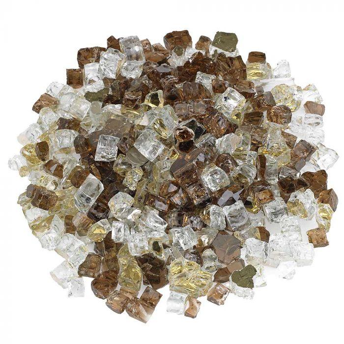 American Fireglass 10-Pound Premium Fire Glass, 1/2 Inch, Zion Reflective