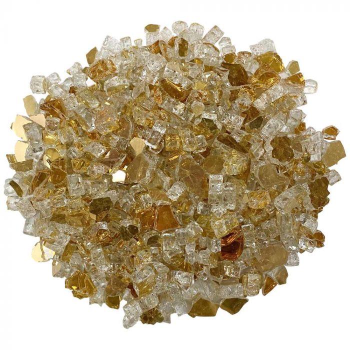 American Fireglass 10-Pound Premium Fire Glass, 1/2 Inch, Gold Reflective