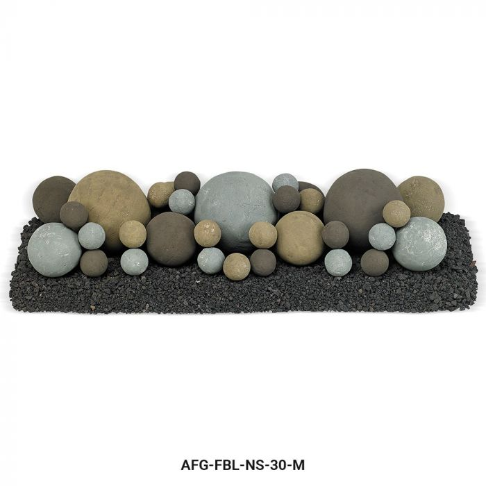 American Fireglass Mixed Ceramic Lite Stone Balls, Natural