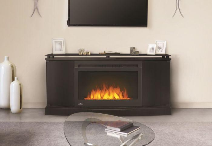 Napoleon NEFP27-3116B Cinema Glass Series Electric Fireplace with Anya Mantel