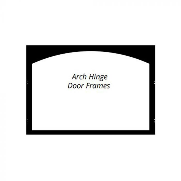 White Mountain Hearth VFY32SBL Arch Hinge Door Frame for VFD32 Deluxe Firebox, Matte Black