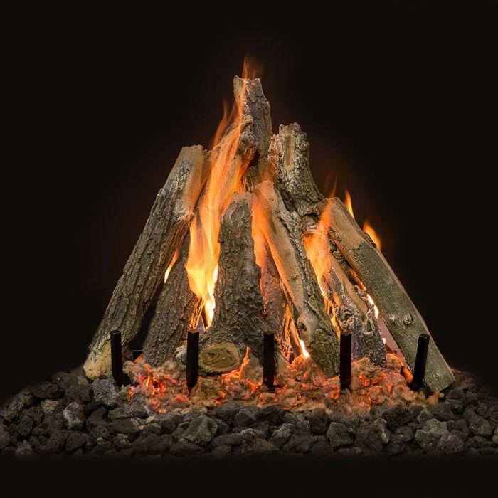 Grand Canyon Arizona Weathered Oak Kiva Vented Gas Log Set