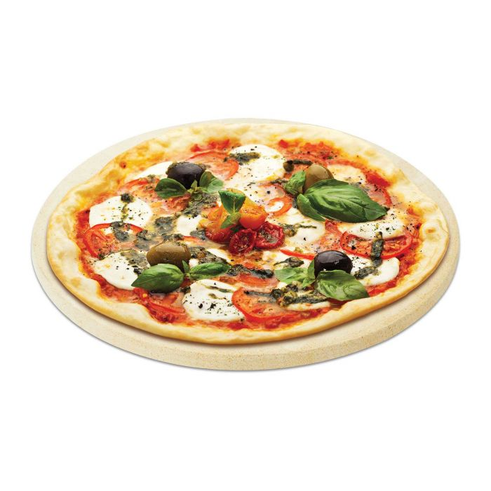 Natural Finish Pizza Baking Stone, 16-Inch Diameter Lifestyle
