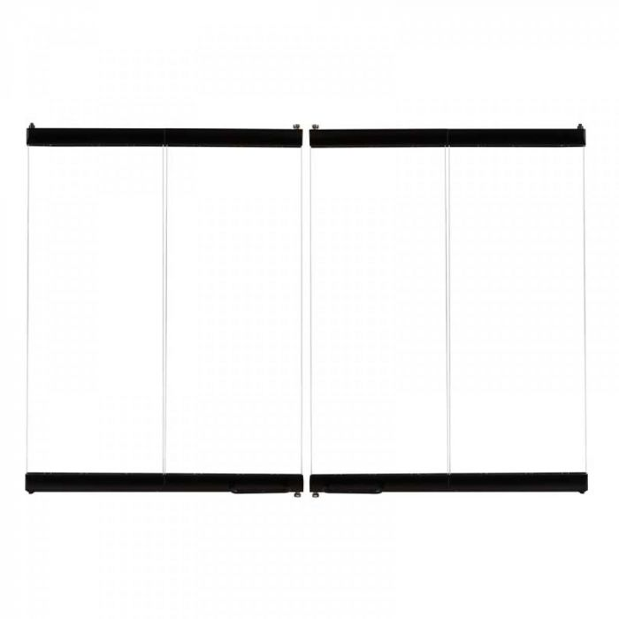 Superior 38-Inch Black Finish Bi-Fold Glass Doors for WRT3538 Wood Burning Fireplaces (38LBF)