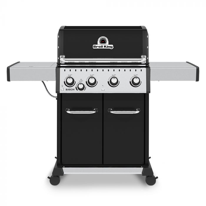 Broil King BR-440 Baron 440 Pro 4-Burner Gas Grill with Side Burner, 57-Inches