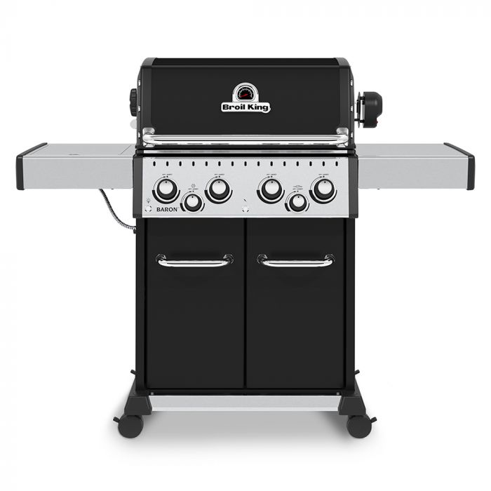 Broil King BR-490 Baron 490 Pro 4-Burner Gas Grill with Rotisserie and Side Burner, 57-Inches