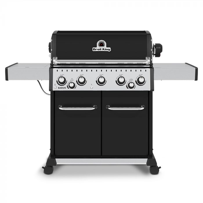 Broil King BR-590 Baron 590 Pro Stainless Steel 5-Burner Gas Grill with Rotisserie and Side Burner, 63-Inches