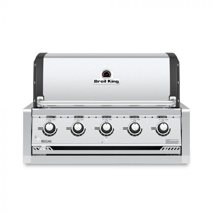 Broil King RG-S520 Regal S520 Stainless Steel 5-Burner Built-In Gas Grill Head, 37-Inches