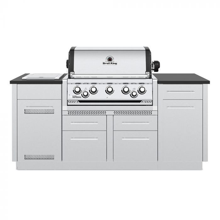 Broil King IMP-S590i Imperial S590i Stainless Steel 5-Burner Gas Grill Island, 79-Inches