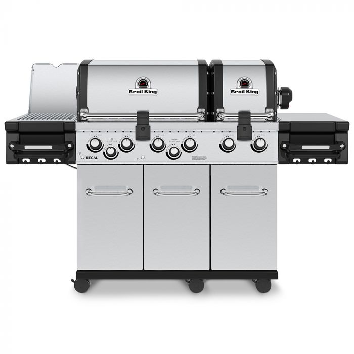 Broil King RG-S690 Regal S690 Pro Infrared Stainless Steel 6-Burner Gas Grill with Rotisserie and Side Burner, 70-Inches