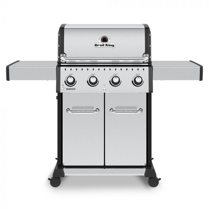 Broil King BR-S420 Baron S420 Pro Stainless Steel 4-Burner Gas Grill, 57-Inches