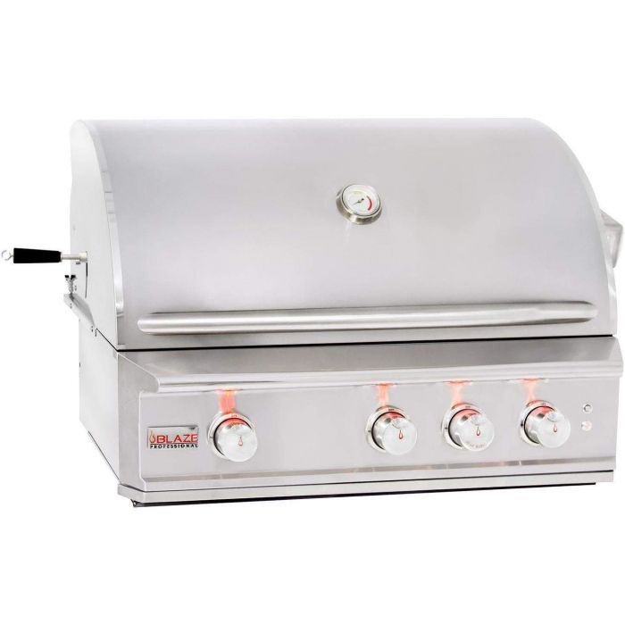 Blaze BLZ-3PRO Professional Built-In Gas Grill with Rear Infrared Burner, 34-inch