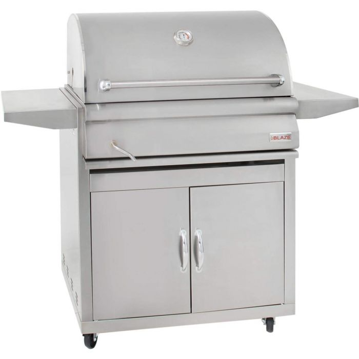 Blaze BLZ-4-CHAR Freestanding Charcoal Grill with Adjustable Charcoal Tray, 32-inch