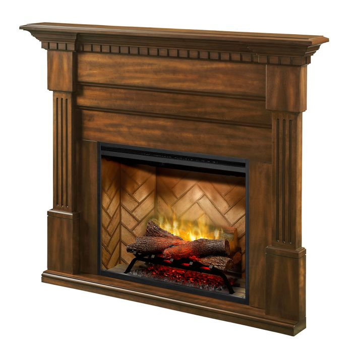 Dimplex BM3033-1801BW Christina Buildrite Mantel, Burnished Walnut