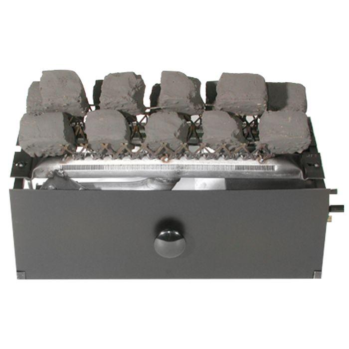 Rasmussen C9B Chillbuster CoalFire Ventless Fireplace Burner Assembly and Coals