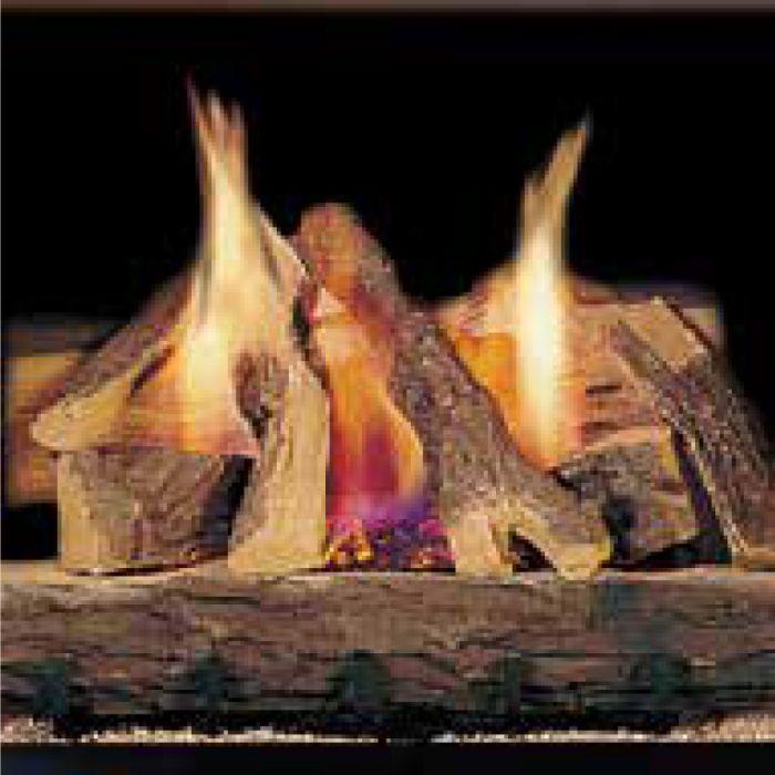 Majestic CFL Campfire Vented Ceramic Fiber Gas Log Set