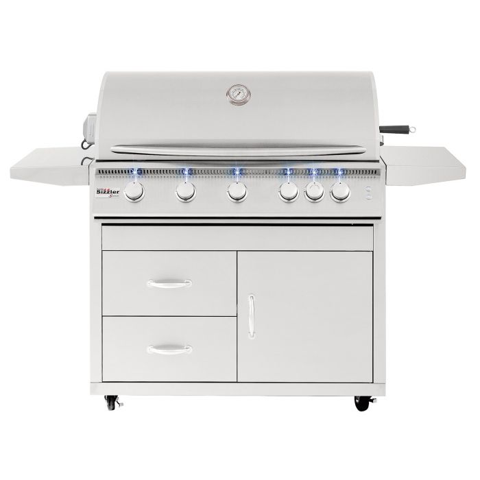 Summerset Sizzler Pro Series Gas Grill On Cart, 40-Inch