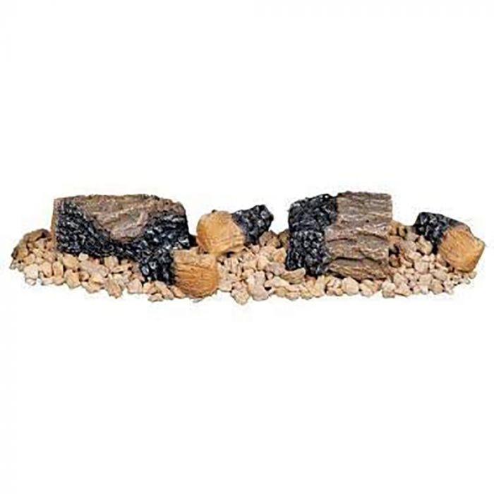 Superior CDABKA Decorative Ash Log Bed/Control Cover Kit for Vent-Free Gas Log Sets