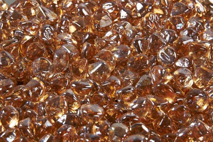 The Outdoor GreatRoom Company CFLD-C 5-Pound Fire Glass Diamonds, Large, Copper