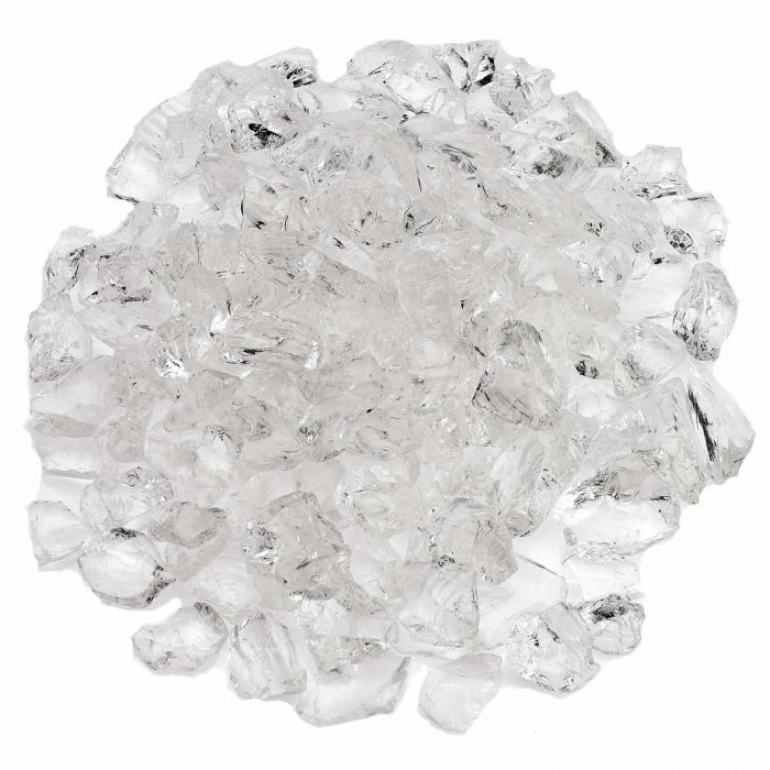 American Fireglass 10-Pound Recycled Fire Glass, 3/4 Inch, Ice