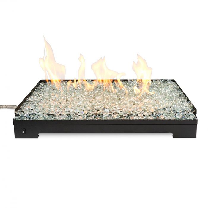 The Outdoor GreatRoom Company CL-27-DSI Crestline Vented Fireglass Burner Kit, 27-Inches