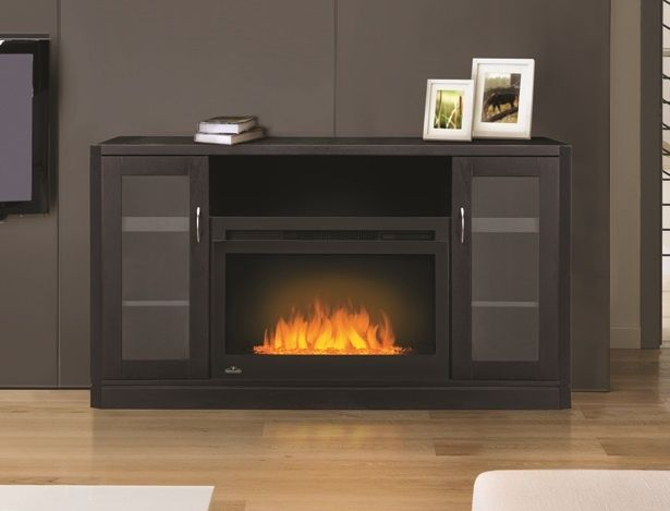 Napoleon NEFP27-1116B Cinema Glass Series Electric Fireplace with Crawford Mantel