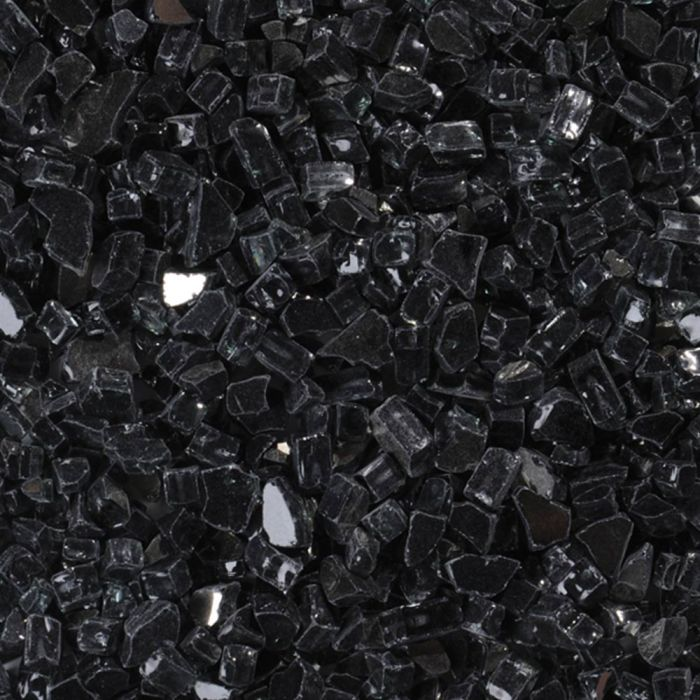 Superior CRSHGL-RBLK Decorative Reflective Black Fire Glass, 5 lbs