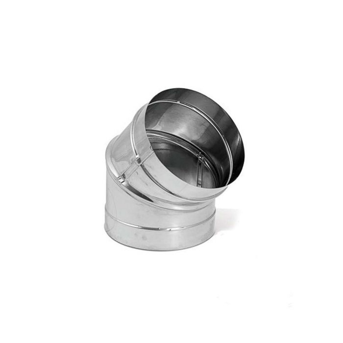 DuraVent DBK-E45SS DuraBlack Stainless Steel 45 Degree Elbow