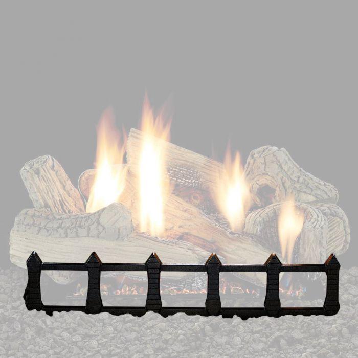 White Mountain Hearth DCG24BL Decorative Fireplace Grate, Matte Black
