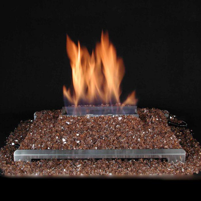 Alterna Vent Free FireGlitter Stainless Steel See-Thru 20-Inch Burner Kit