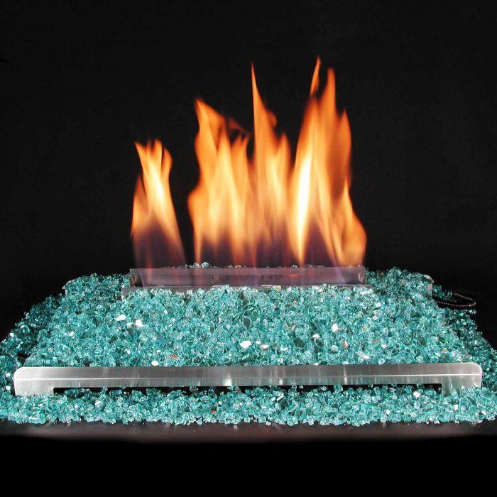 Alterna Ventless FireGlitter Stainless Steel Double Sided 24-Inch Burner Kit