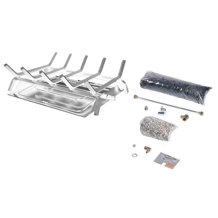 Rasmussen DF-CF Double Sided Custom Embers Pan Stainless Steel Burner and Grate Kit