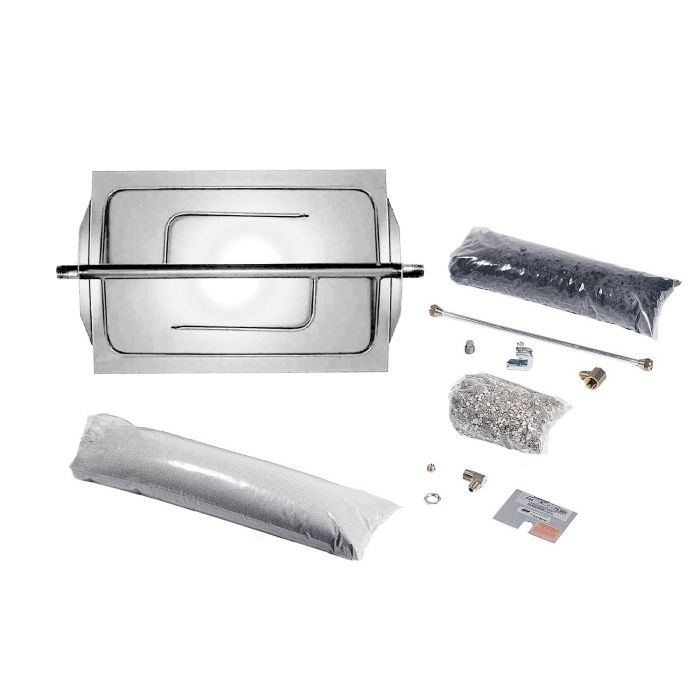 Rasmussen DF-SS Custom Embers Stainless Steel Fireplace Burner Kit