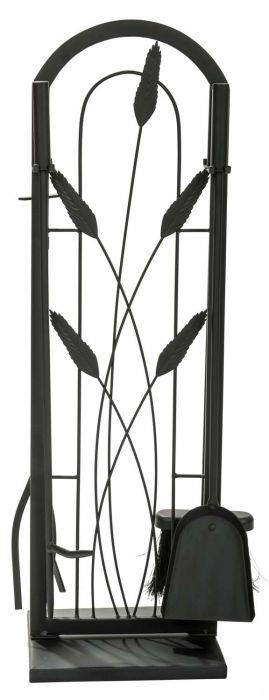 Dagan DG-1701 Five Piece Fireplace Tool Set, Black