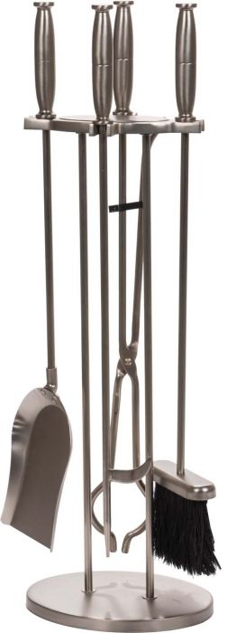 Dagan DG-7632 Five Piece Fireplace Tool Set, Pewter