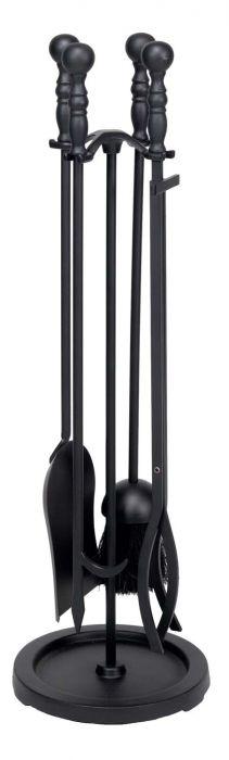 Dagan DG-AHF110 Five Piece Fireplace Tool Set, Black