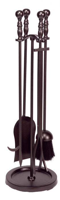 Dagan DG-AHF550 Five Piece Fireplace Tool Set, Bronze