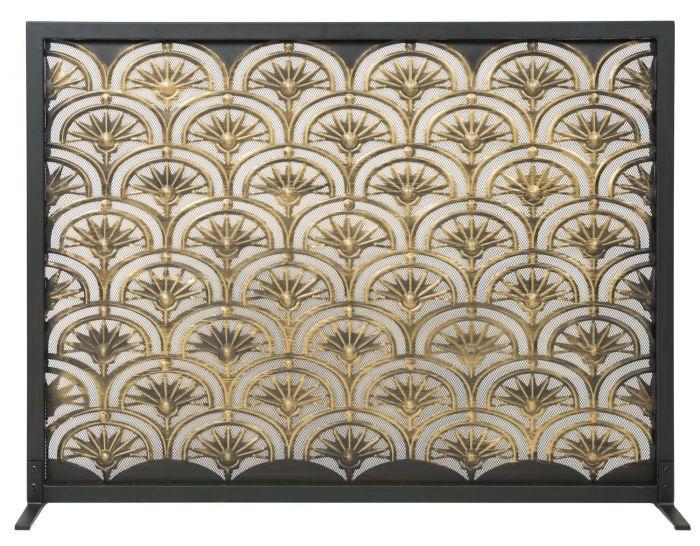 Dagan DG-AHS400 Fireplace Screen with Fan Design, 44x33-Inches