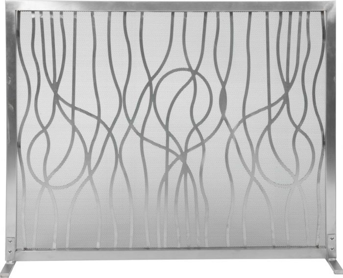 Dagan DG-AHS800 Stainless Steel Fireplace Screen, 39x31-Inches