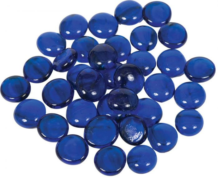 Dagan DG-GB-DARKBLU 3/4-Inch Fire Beads, 10, Dark Blue