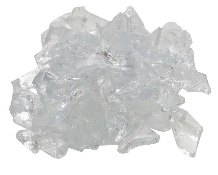Dagan DG-GLL-CRYSTL 1/2 - 3/4-Inch Fire Glass, 10, Crystal