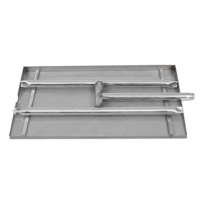 Dagan DG-GP-18S Gas Ember Pan, Stainless Steel