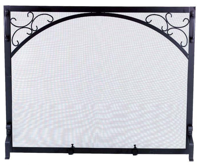 Dagan DG-S119 Black Wrought Iron Fireplace Screen, 39x31-Inches