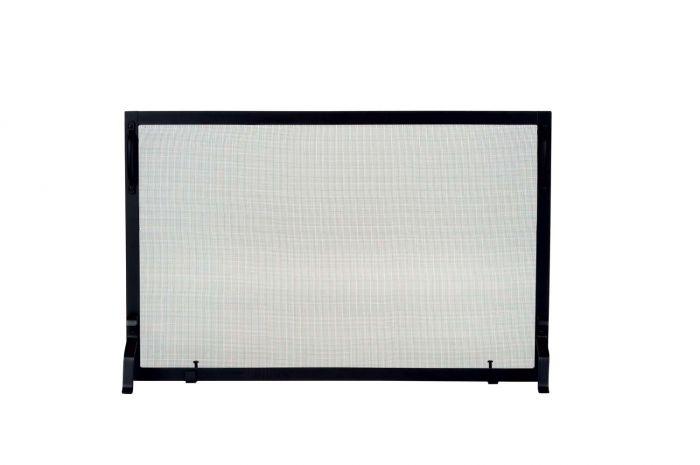 Dagan DG-S129-1 Black Wrought Iron Fireplace Screen, 39x25-Inches