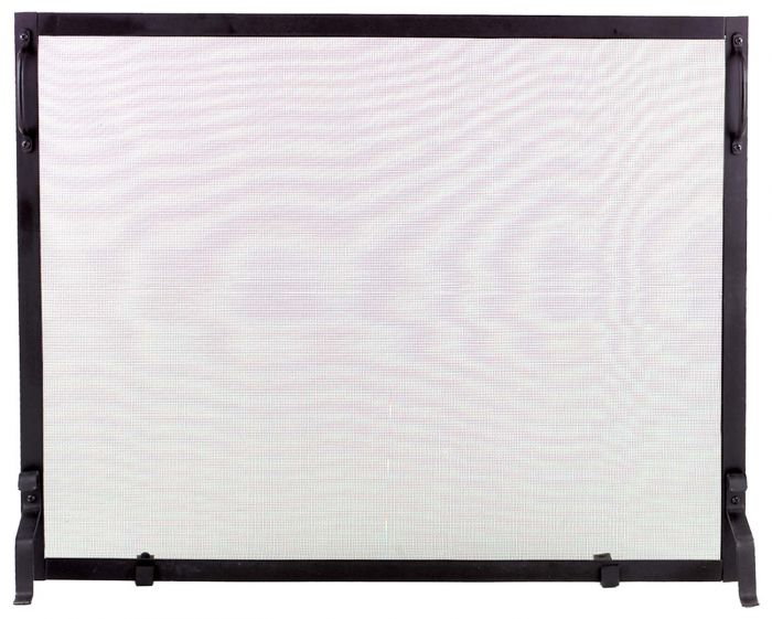 Dagan DG-S129 Black Wrought Iron Fireplace Screen, 39x31-Inches
